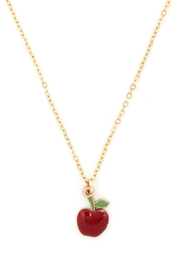 Love Pome Necklace - Red, Gold, Solid, Scholastic/Collegiate, Green, Fruits