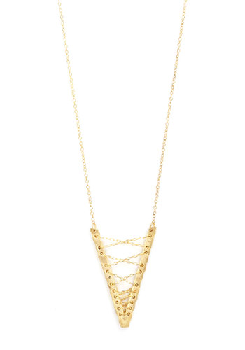 Vertex Support Necklace by Mata Traders - Gold, Solid, Better, Chain, Eco-Friendly, Gold
