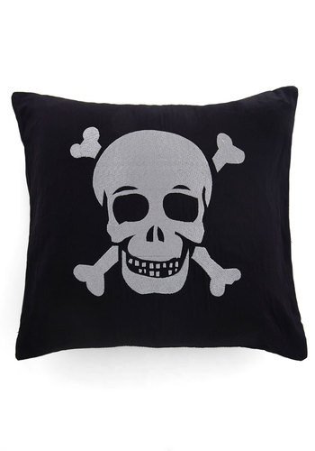 Where Your Head's At Pillow - Black, White, Better, Novelty Print, Dorm Decor, Quirky, Statement, Halloween