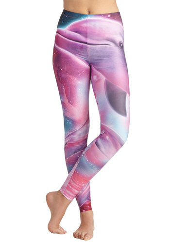 Galaxy Creature Leggings - Purple, Blue, Pink, Print with Animals, Quirky, Skinny, Better