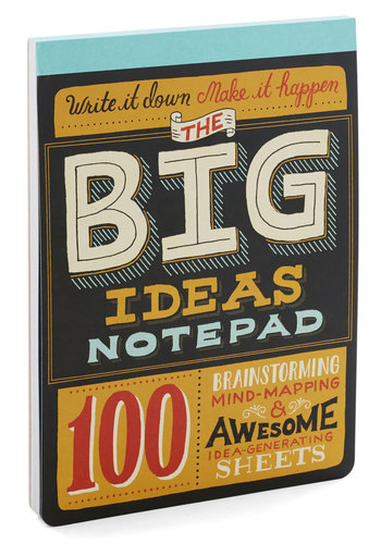 The Big Ideas Notepad by Chronicle Books - Multi, Scholastic/Collegiate, Quirky, Good