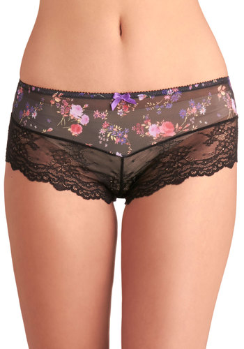 Once Upon a Saturday Undies - Black, Multi, Floral, Better, Sheer, Knit, Lace