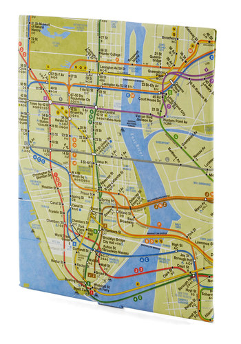 Occupied on the Subway Tablet Case - Green, Blue, Multi, Casual, Travel, Novelty Print, Eco-Friendly