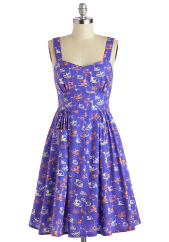Spark a Connection Dress by Bea & Dot - Purple, Pink, White, Novelty Print, Pockets, Casual, A-line, Spaghetti Straps, Better, Sweetheart, Private Label, Cotton, Woven, Exclusives, Gifts Sale, Show On Featured Sale, Mid-length