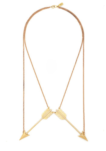 Glow and Arrows Necklace by Erica Weiner - Gold, Solid, Best, Gold
