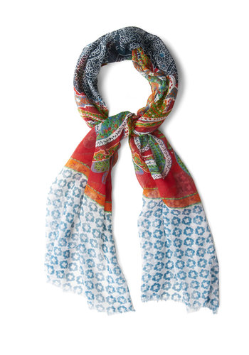 Collecting the Eclectic Scarf - Multi, Print, Good, Boho, Woven