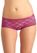 Dainty Day Off Undies in Fuchsia Boyshort