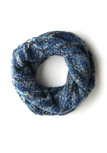 Off to See the Blizzard Scarf - Blue, Solid, Knitted, Fall, Winter, Knit