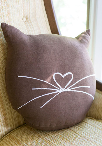 Feline Cozy Pillow by Karma Living - Cats, Brown, White, Quirky, Better, Print with Animals, Dorm Decor, Cotton, Halloween, Gals