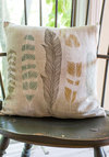 Ties the Plume Together Pillow - Dorm Decor, Better, Tan, Multi, Print, Feathers, Woven, Boho