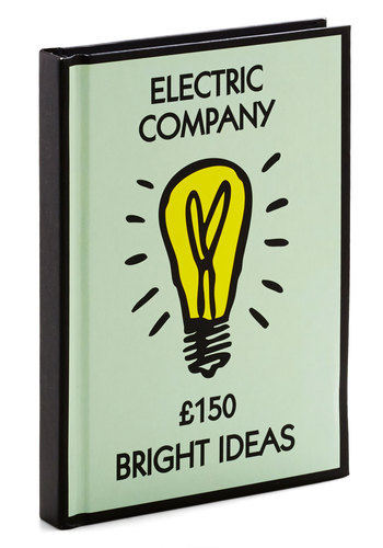 Power Through Notebook - Good, Mint, Yellow, Black, Novelty Print, Work