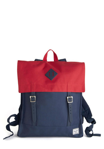 Places to Be Backpack by Herschel Supply Co. - Blue, Solid, Buckles, Scholastic/Collegiate, Red, Travel