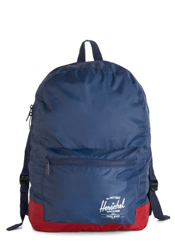 There and Backpack Again by Herschel Supply Co. - Blue, Red, Solid, Scholastic/Collegiate, Casual, Travel, Colorblocking