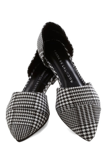 Point and Click Flat in Houndstooth - White, Flat, Better, Black, Houndstooth, Work, Variation