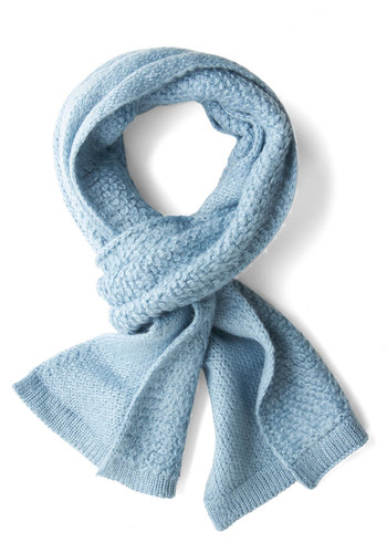 Cozy Mornings Scarf - Blue, Solid, Fall, Winter, Knit