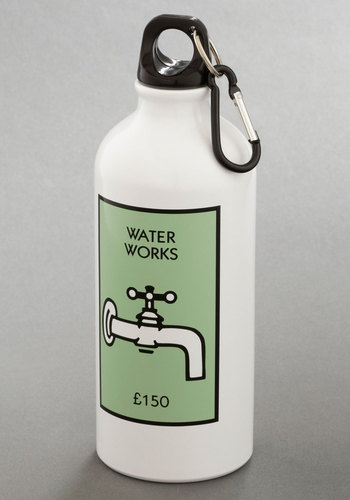 Quenching Victory Water Bottle - Good, White, Mint, Novelty Print