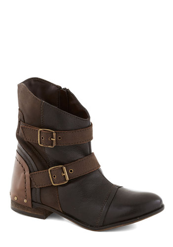 Percolate in the Day Boots - Brown, Tan / Cream, Buckles, Steampunk, Low, Better, Leather, Military