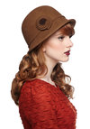 Train and Simple Hat - Brown, Solid, Flower, Better, Vintage Inspired, 20s, 30s, Fall