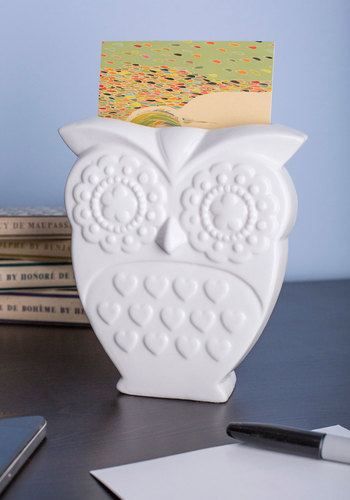 Owl That Jazz Vase by Louche - Blue, Owls, Good, White, Solid, Print with Animals, Wedding