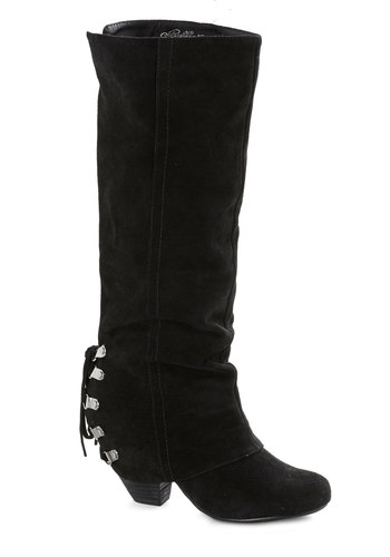 Just Duet Boot - Black, Solid, Leather, Lace Up, Variation, Suede, Better