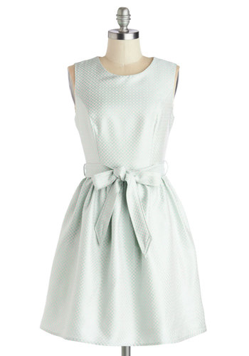 A Sweet Sight Dress - Woven, Mint, Pink, Print, Pockets, Belted, Party, Fit & Flare, Sleeveless, Good, Scoop, Mid-length, Wedding, Cocktail, Bridesmaid, Vintage Inspired, Pastel