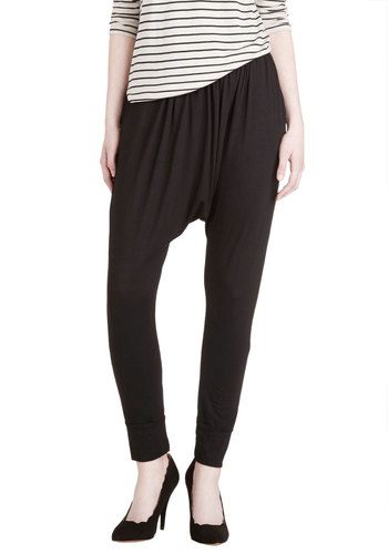 Casual-Chic Friday Pants - Jersey, Knit, Black, Solid, Casual, Skinny, Good, Urban, 90s