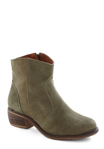 Right at Home Boot in Moss - Green, Solid, Luxe, Low, Leather, Better, Suede, Basic, Winter