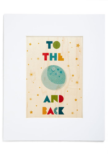 So Much to Gibbous Print - Multi, Good, Dorm Decor, Eco-Friendly, Gals, Under $20, Hostess