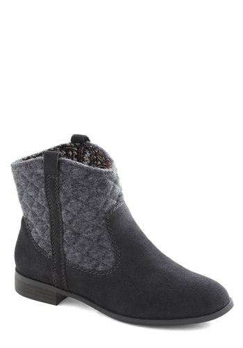 Weekend Concert Boot by BC Shoes - Grey, Solid, Quilted, Low, Leather, Suede, Better, Casual