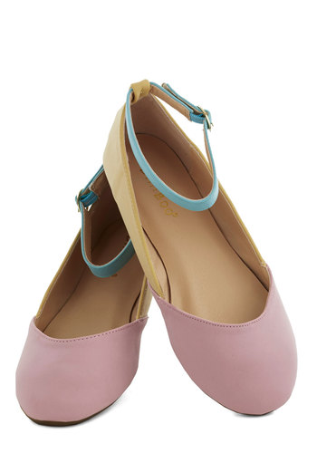 Cameo So Sweet Flat - Pastel, Colorblocking, Flat, Good, Yellow, Pink, Mint