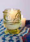 Owl Nighter Votive Candle Holder - Green, Vintage Inspired, Dorm Decor, Owls, Good, Solid, Halloween, Holiday