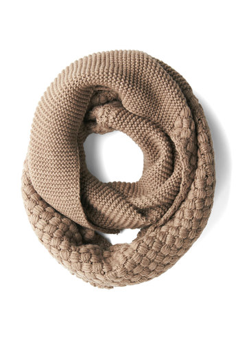 Chill Out on the Town Scarf in Taupe - Solid, Knitted, Fall, Winter, Better, Variation, Tan