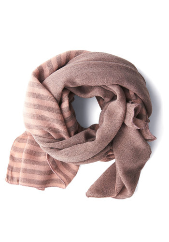 Dawn My Mind Scarf - Pink, Stripes, Casual, Knit