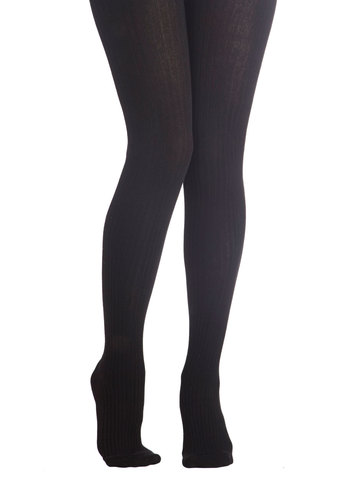 Cover Your Basics Tights in Black - Black, Solid, Better, Variation, Basic, Knitted, Scholastic/Collegiate, Fall, Winter, Knit, Top Rated