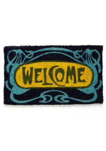 Greet Your Guests Doormat - Multi, Better, Yellow, Blue
