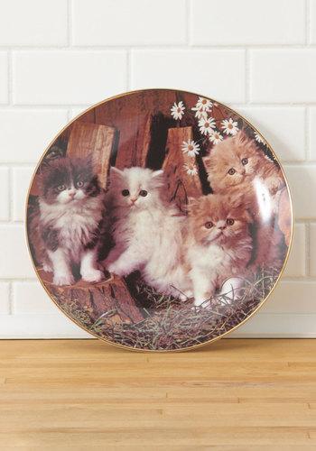 Vintage Fantastic Fur Plate