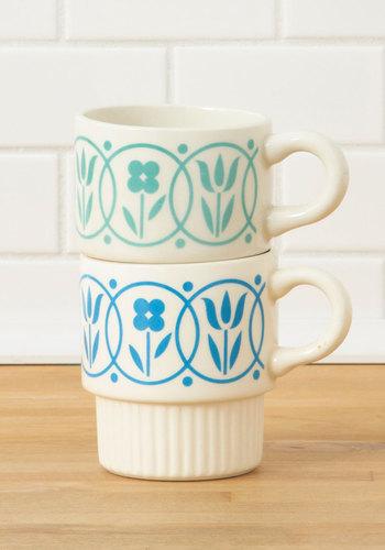 Vintage Picnic Planning Mug Set