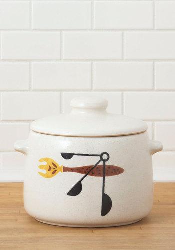 Vintage Simmer Lovin' Bean Pot