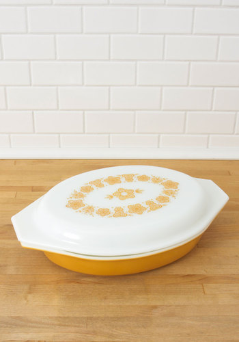 Vintage Good as Marigold Serving Dish
