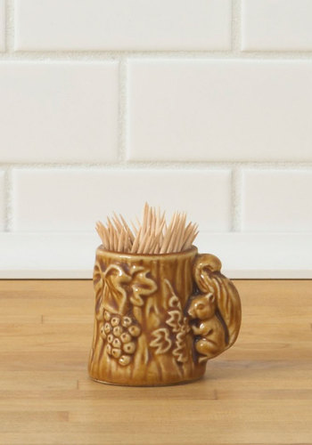 Vintage Feast Your Eyes Toothpick Holder