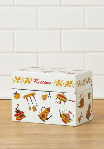 Vintage What's Cookin' Recipe Box