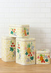 Vintage Berry Organized Canister Set