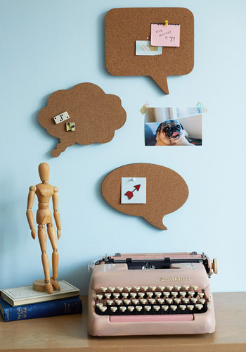 Conversation Starters Cork Board Set - Brown, Dorm Decor, Good, Solid