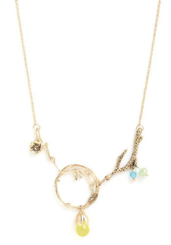 The Circle Dame Necklace - Gold, Multi, Solid, Boho, Gold