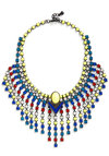 Super-Duper Fun Necklace - Multi, Solid, Rhinestones, 20s