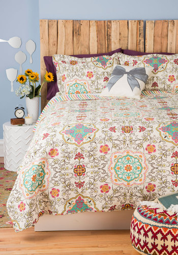 Carriage House Quilt Set in King - Cotton, Multi, Boho, Dorm Decor, Best, Quilted