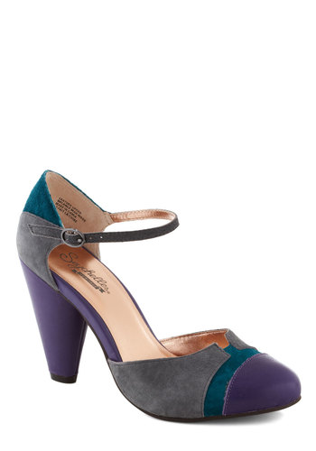 Just an Illusion Heel by Seychelles - Purple, Grey, Green, Solid, Colorblocking, Best, High, 20s