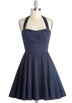 Traveling Cupcake Truck Dress in Navy