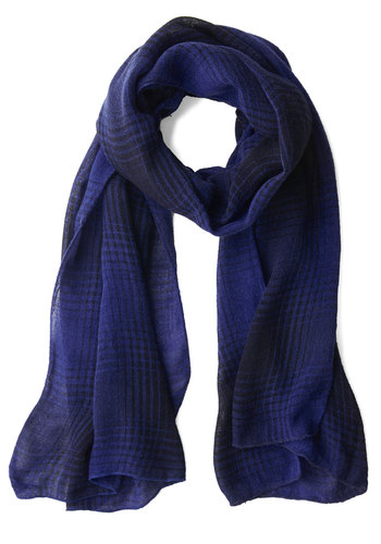 Midterms of Endearment Scarf - Blue, Solid, Casual