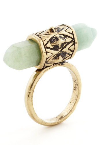 Spotlight Accessory Ring - Green, Gold, Solid, Good, Gold